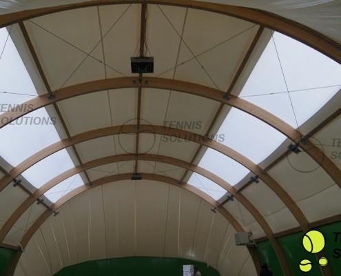 Powłoka hali tenisowej