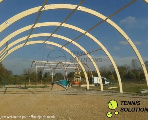 Budowa hal tenisowych o konstrukcji drewnianej