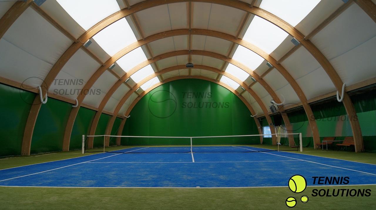 Drewniana hala tenisowa typu W3