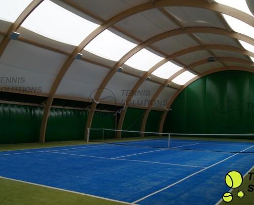Doświetlenie hali tenisowej