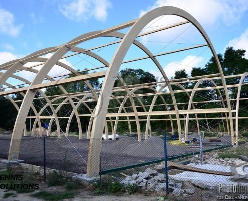 Drewniana hala tenisowa - budowa