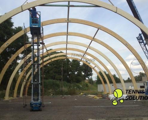 Drewniane hale tenisowe - budowa