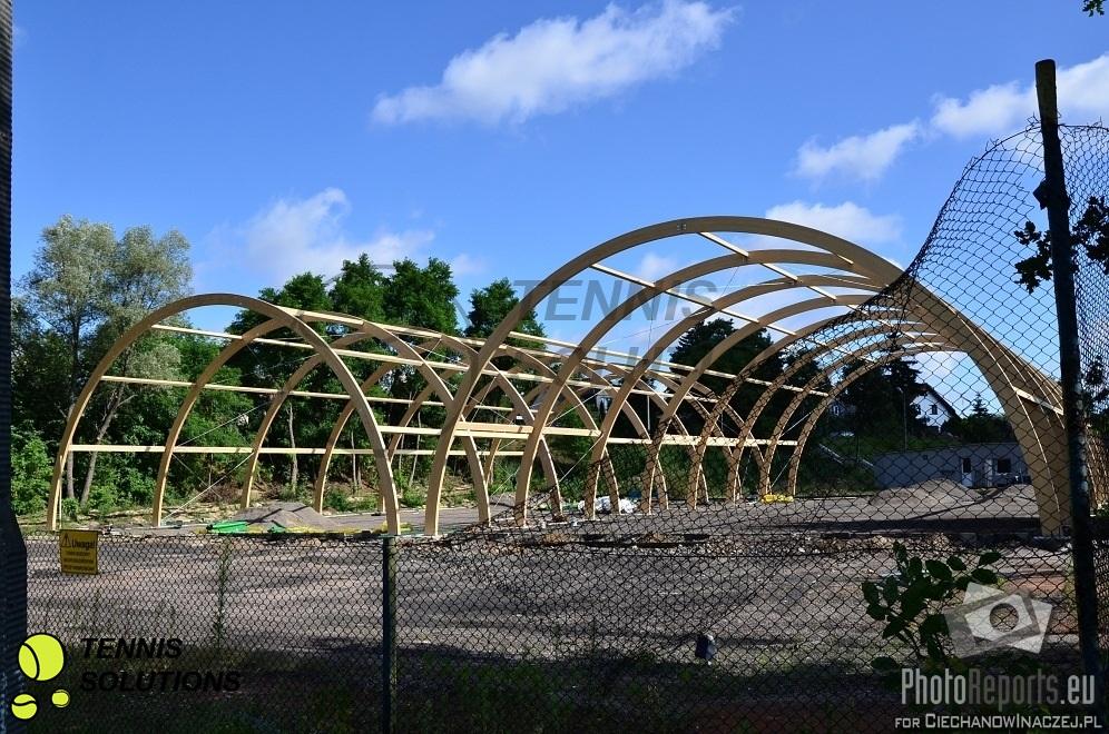 Szkielet konstrukcji hali tenisowej