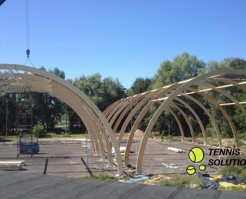 Hala tenisowa konstrukcja drewniana