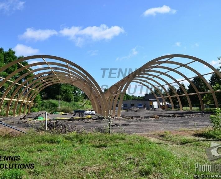 Budowa drewnianych hal tenisowych