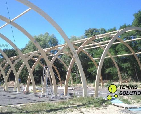 Konstrukcje hal tenisowych W3 - półbeczka