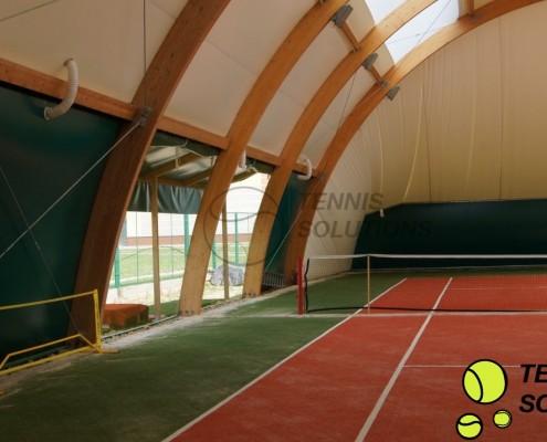 Otwierane boki w halach tenisowych