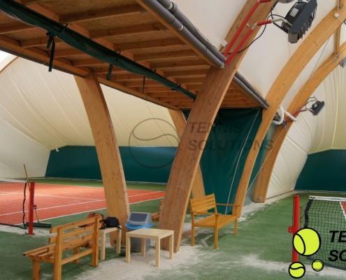 Łączenie modułowe hal tenisowych
