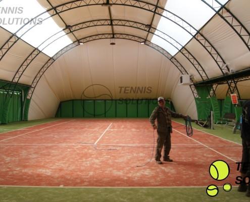 Ogrzewanie gazowe hali tenisowej