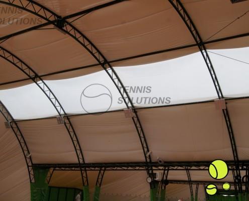 Oświetlenie LED w hali tenisowej politechniki poznańskiej