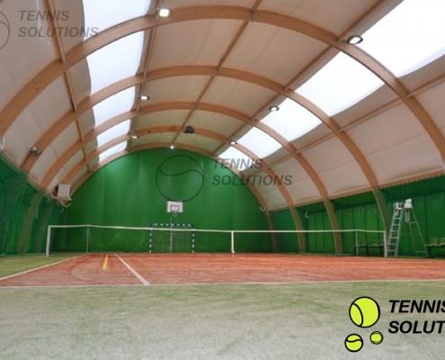 Gotowa do gry hala tenisowa