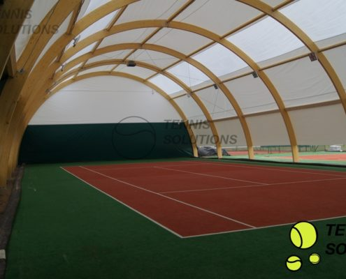 Hale tenisowe - budowa