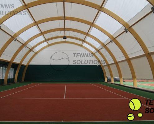 Budowa krytych kortów tenisowych